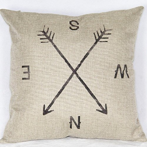 Cotton Square Compass Decorative Cushion product image