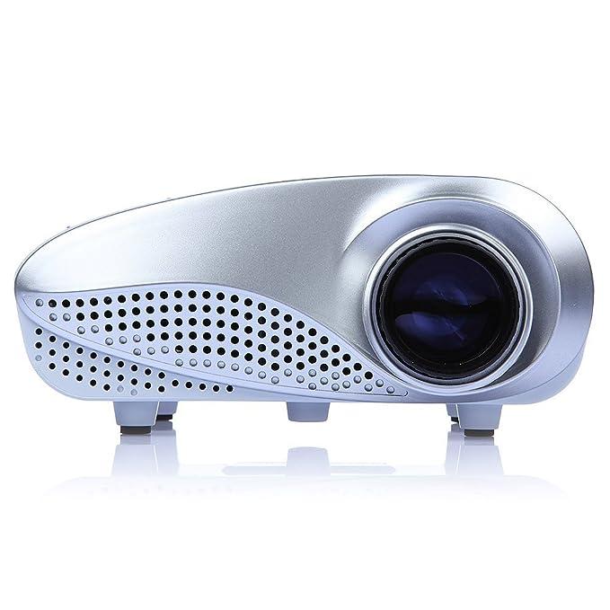 Nuevo Mini Proyector Multimedia LED Proyector Portátil HD Proyector con 48 Lúmenes Max 400 Lúmenes, Resolución Nativa 320 * 240, Contraste 300:1, ...