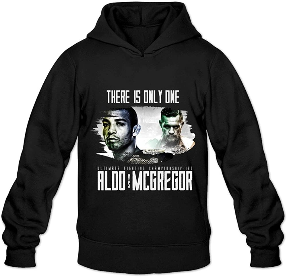 Men's Jose Aldo Vs Conor Mcgregor 1 Hooded Sweatshirt Black