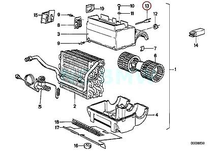 Amazon com: GENUINE BMW Temperature Sensor - Evaporator 64511377476