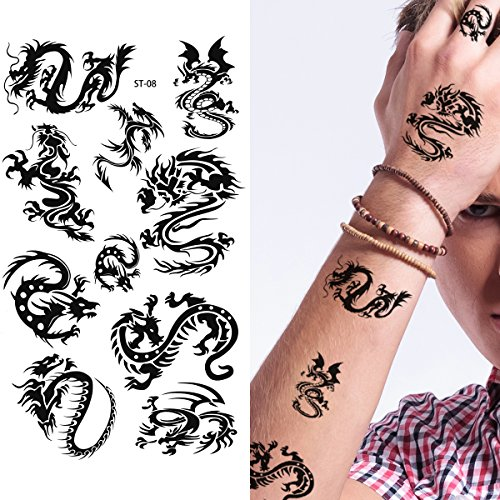 Dragon Tattoo Leg (Supperb Temporary Tattoos - Small Dragons (Small Dragons))