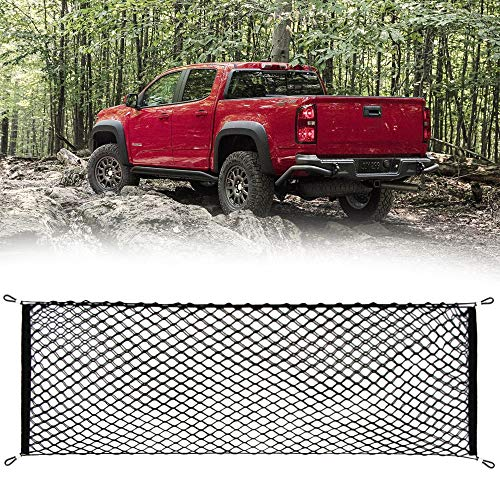 Thie2e Cargo Net Stretchable Truck Net for Chevy Colorado GMC Canyon 2015 2016 2017 2018 2019