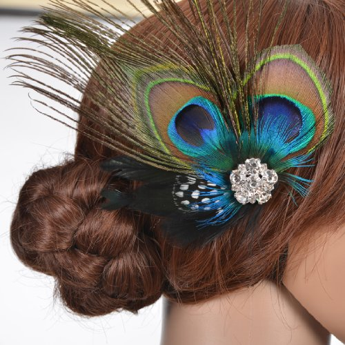 Remedios Wedding Peacock Feather Headpiece product image
