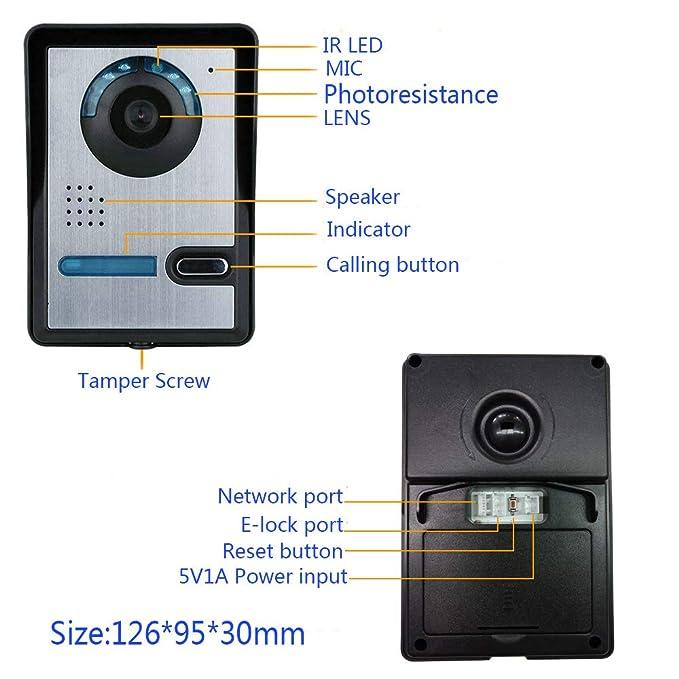 JINPENGPEN WiFi videoportero Inteligente Sistema de ...