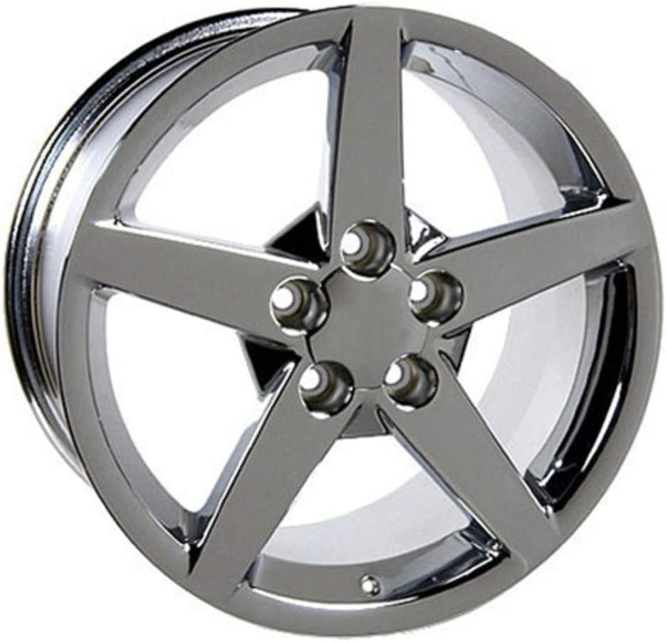 Partsynergy Replacement For 19 Rim fits 2005-2013 Chevrolet Corvette C6 Style Chrome 19x10 Wheel