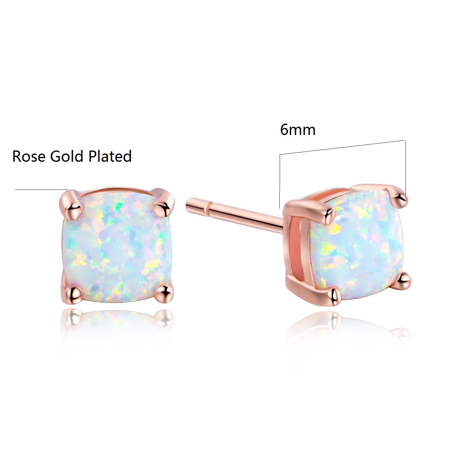 nose opal stud collections stainless blue steel genuine bodycandy pronged bone gauge faux rings
