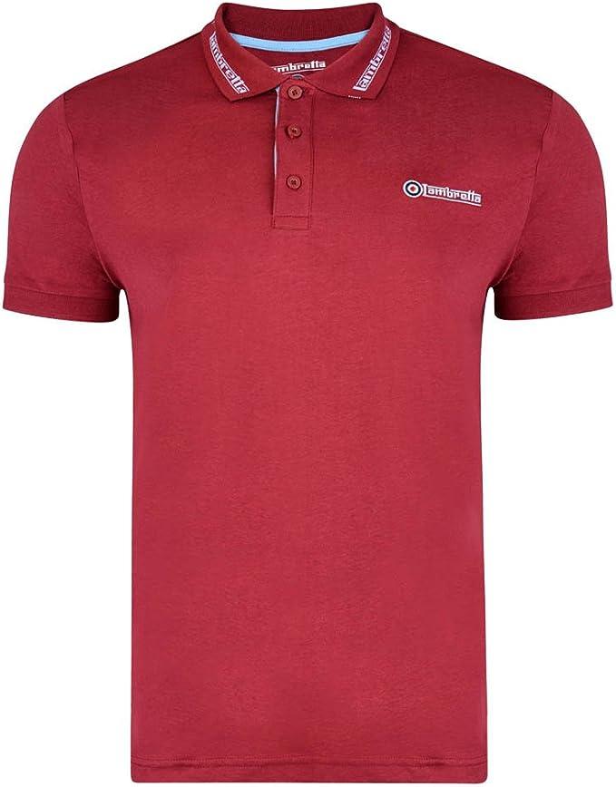 Lambretta - Polo - para hombre rojo granate XL: Amazon.es: Ropa y ...