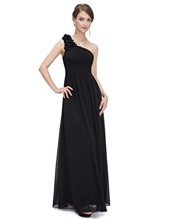 Ever pretty flower one shoulder long bridesmaids evening party dress ever pretty fashion simple wedding dresses for women 4us black mightylinksfo