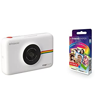 Polaroid Snap Touch cámara digital con impresión instantánea y pantalla LCD  (blanco) con tecnología Zero Zink + Polaroid Paper  Amazon.es  Electrónica e1ae3609f3