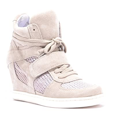 92201487ab7 Ash Cool Wedge Clay Mesh Hi Top Trainer Clay 39  Amazon.co.uk  Shoes ...
