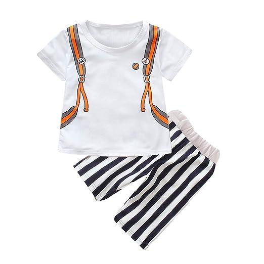 ae188775e4f Amazon.com: 12M-4Y Toddler Children's Kids Short Sleeve T-Shirt Cute ...