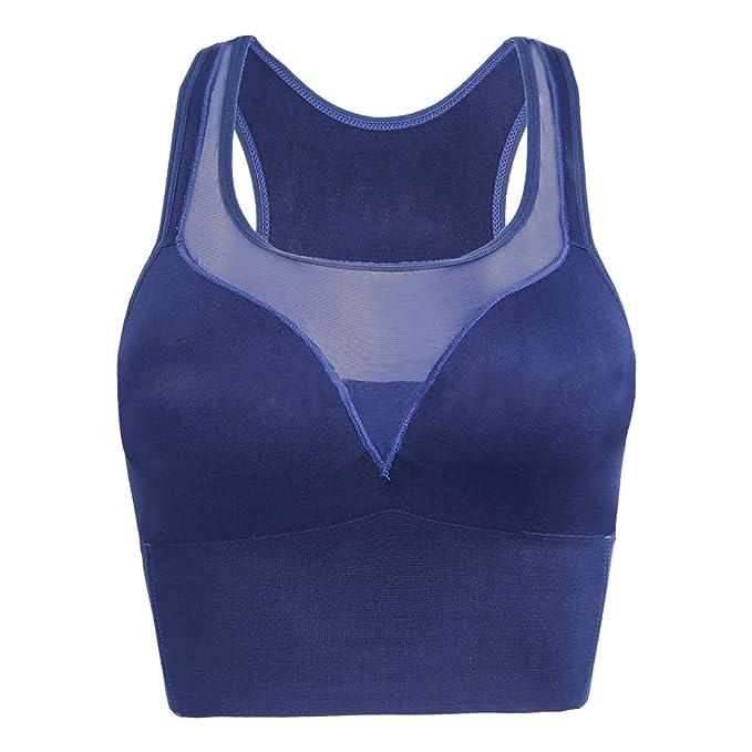 Hzjundasi Mujer Sujetador de Malla Deportivo A Prueba de Choques Deportes de Alta Intensidad Workout Yoga Gym Tank Top Sports Bra: Amazon.es: Ropa y ...