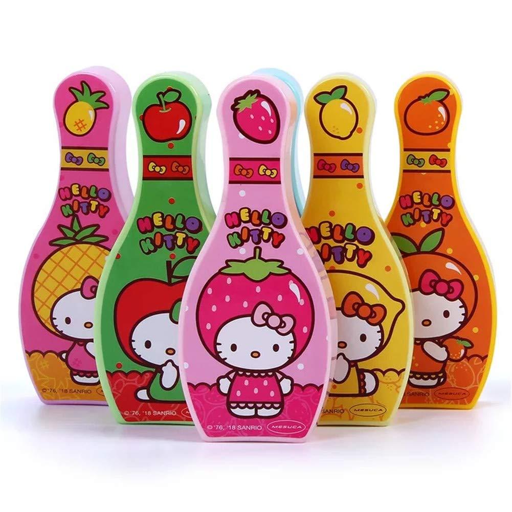 Hello Kitty Bowling Ball Game Indoor Outdoor Toy Sport Girl Bottles+Ball Set Cartoon