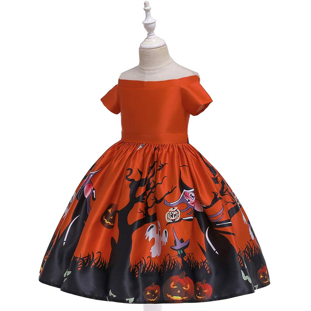 Yuege Baby Clothes Halloween Princess Dresses Girls Lace Baptism Dress Long Sleeve//Sleeveless Formal Party