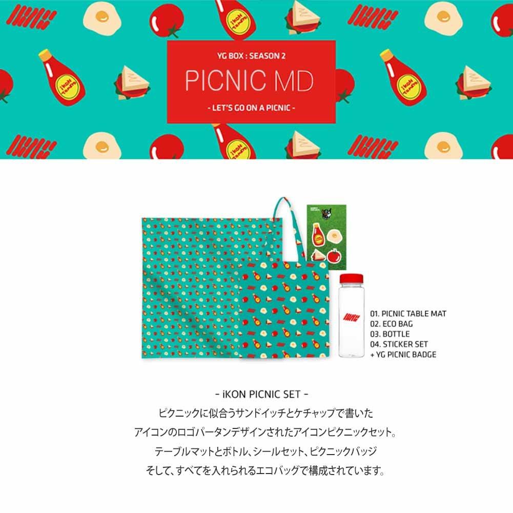 2bca646106 Amazon | 【YG公式】iKON PICNIC SET アイコン ピクニック セット BOBBY B.I ジナン ジュネ ユニョン ドンヒョク  チャヌ | アイドル・芸能人グッズ 通販
