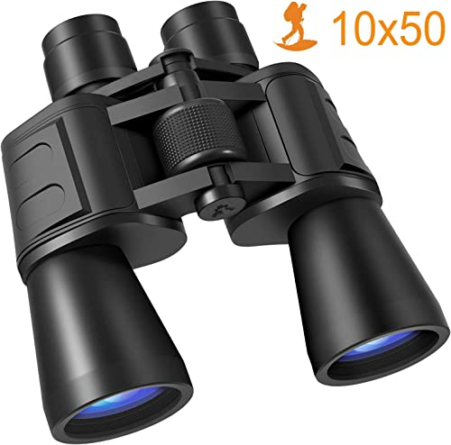 Binoculars, 10×50 Binoculars for Adults HD Compact Binoculars for Adults Bird Watching Kids Binoculars Travel Sightseeing Hunting Wildlife Watching Outdoor Sports Games and Concerts