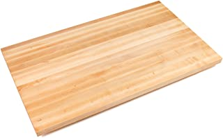 "product image for John Boos Edge-Grain Maple Butcher Block Countertop - 1-1/2 Thick, 84"" L x 32"" W, Varnique Finish"
