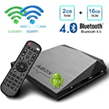TV Box Android 7.1 [2GB RAM + 16GB ROM],2018 GooBang Doo A1 Plus Smart TV Box Wi-Fi 2.4G+5G / Bluetooth 4.0 / 4K Full HD