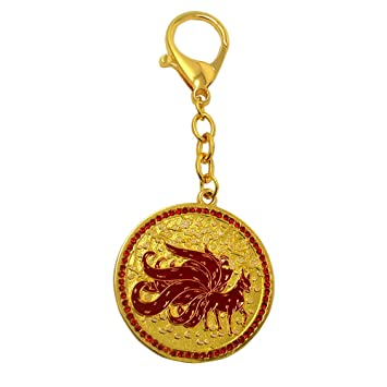 Amazon Com Feng Shui 9 Tailed Red Fox Amulet For Wealth Power