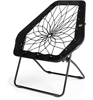 Gentil Bunjo Chair Bungee Chair Hex (Black). Great For College, Teens, Kids