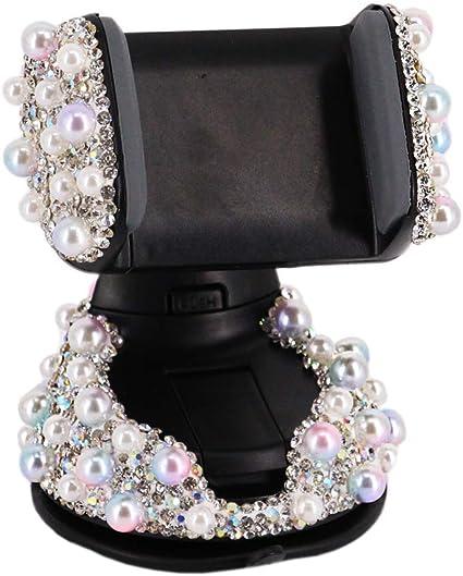 Radish stars Mini Crystal Rhinestone Pearl Car Dashboard Smartphone Stand Colorful Sticky Car Cell Phone Mount Decoration