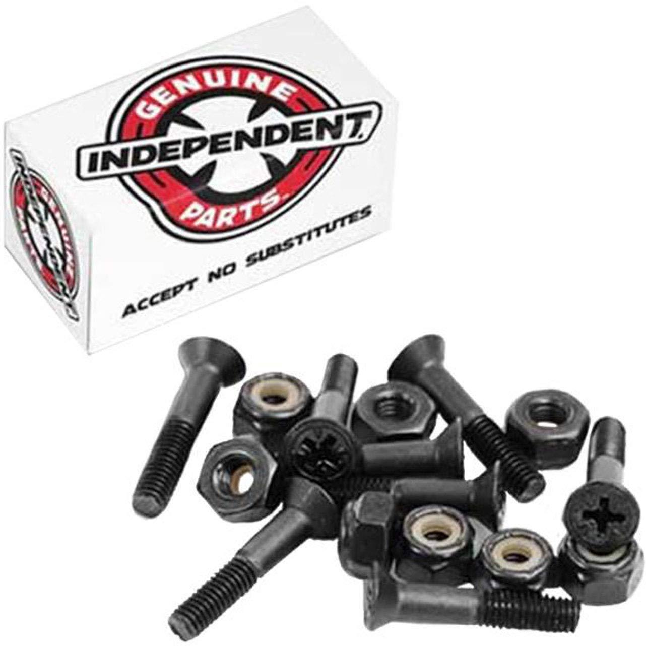 Independent Genuine Parts Cross Bolts Standard Phillips Skateboard Hardware (Black/Red, 1'') by Independent (Image #1)