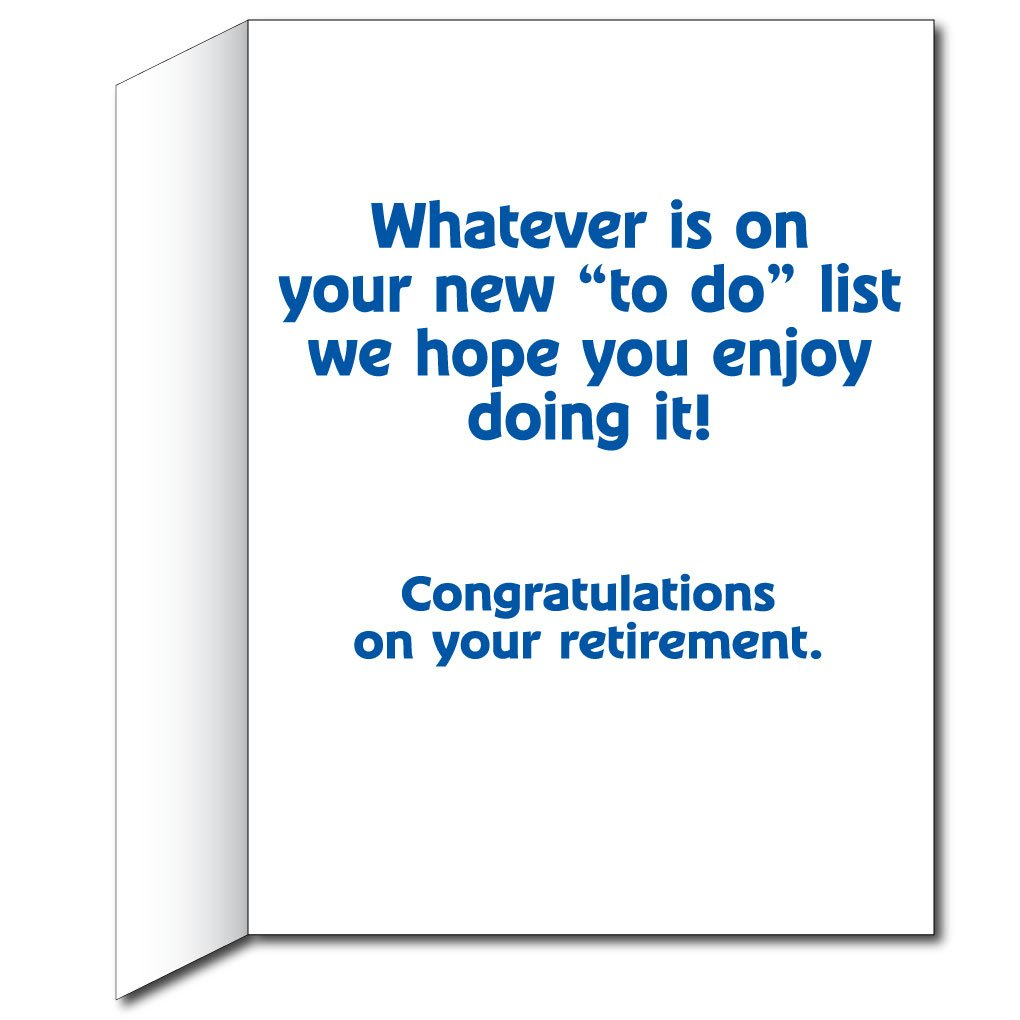 Amazon 2x3 Giant Retirement Gift Card To Do List W