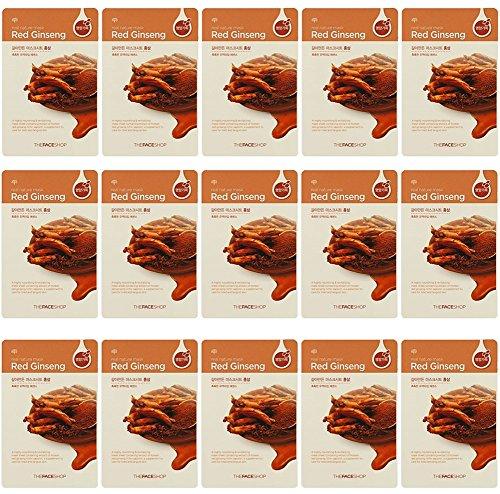 Le Masque Visage Boutique Nature réel ginseng rouge 15 feuilles