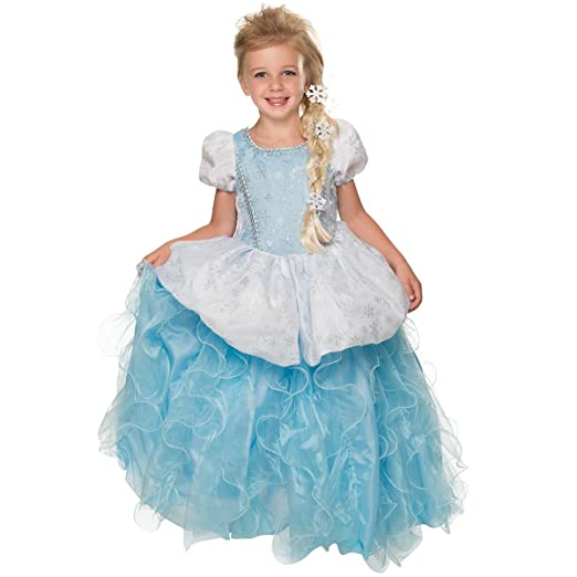 Rubie's Deluxe Princess Krystal Costume, Ice Blue, Small