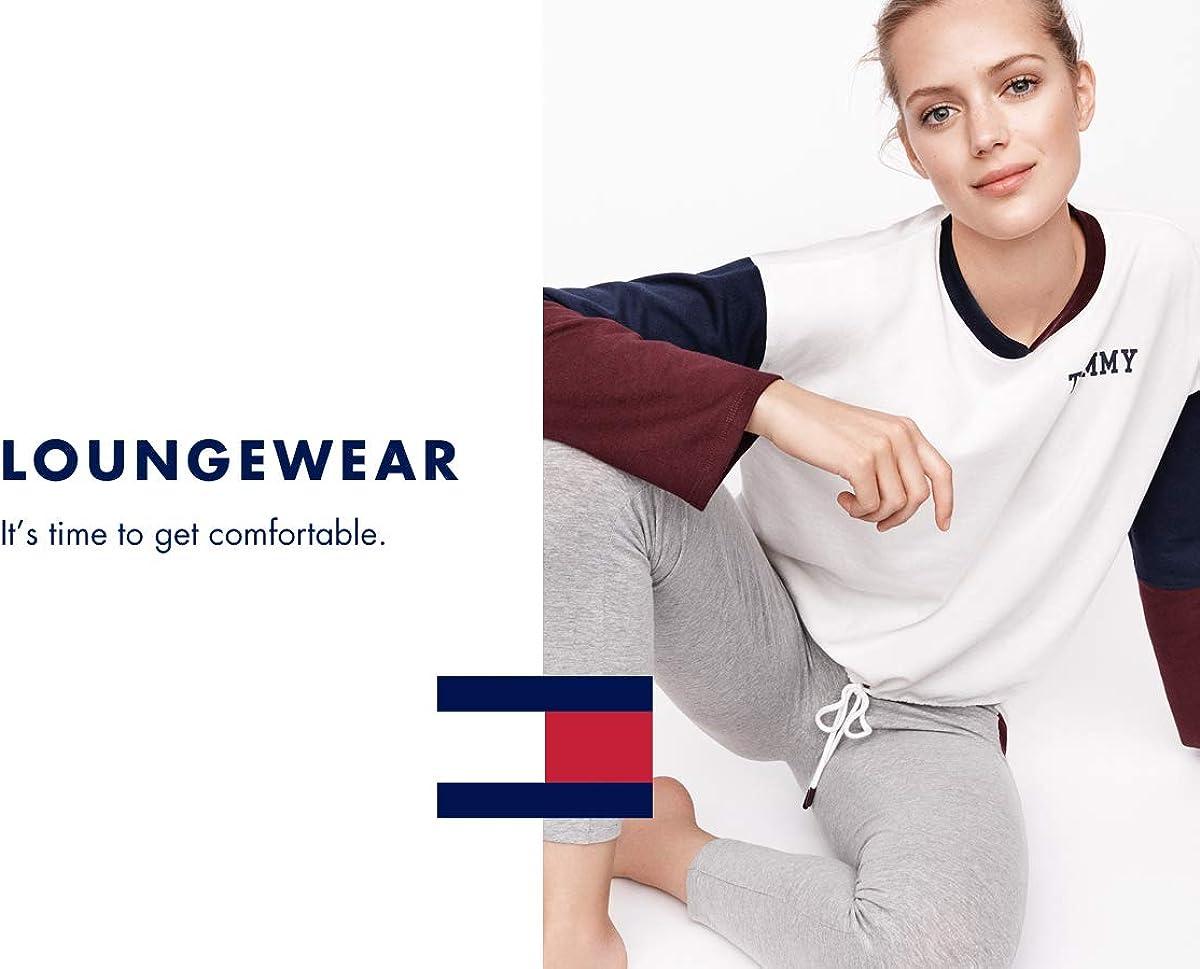 Tommy Hilfiger Womens Short Sleeve T-Shirt Pajama Top Pj