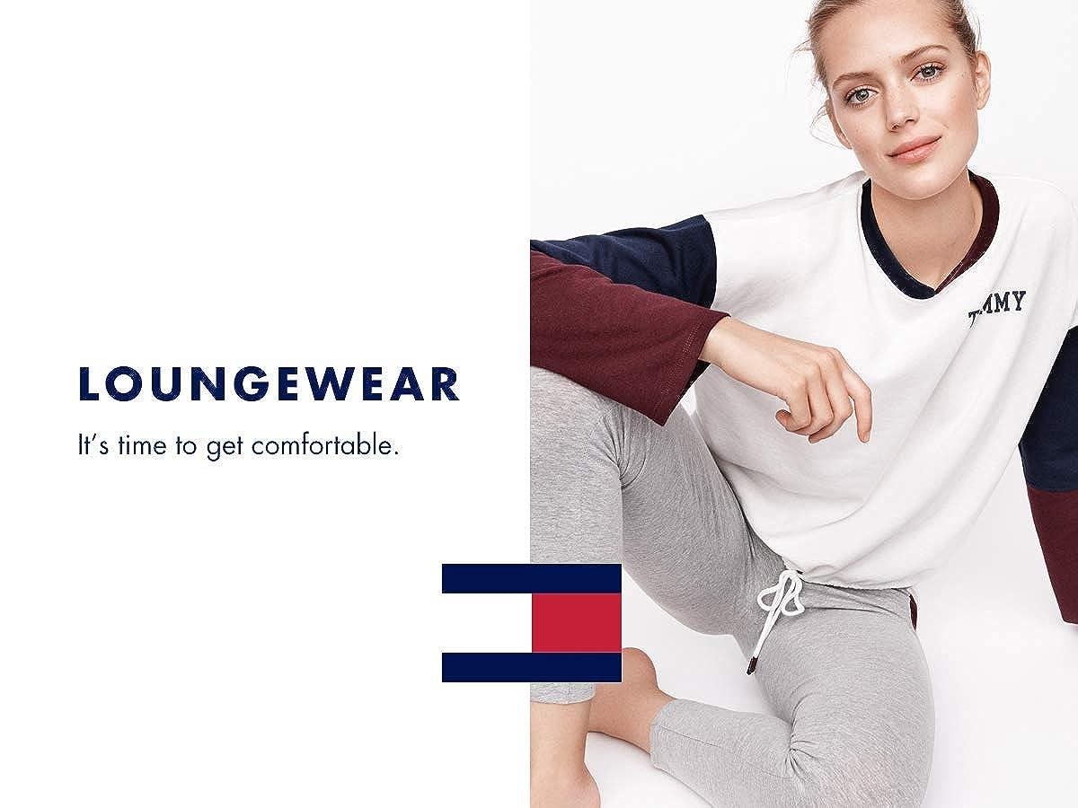 Tommy Hilfiger Womens Standard Wide Leg Retro Style Hilfiger Lounge Pant Bottom Pajama Pj