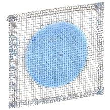 "Ajax Scientific Galvanized Steel Wire Gauze Square with Ceramic Centre, 4"" Length x 4"" Width"