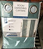 Thermal Balance Set of 2 Mineral Green Room Darkening Curtains Blocks 99% of outside light 84 inch panels Review