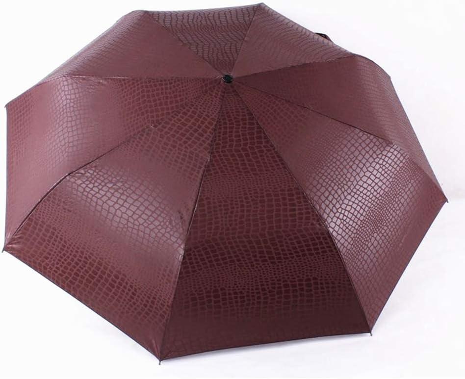 ZhiGe Foldable Umbrella,Umbrella Rain Women 3 Folding Windproof Fully Automatic Business Big Umbrella Men Umbrella