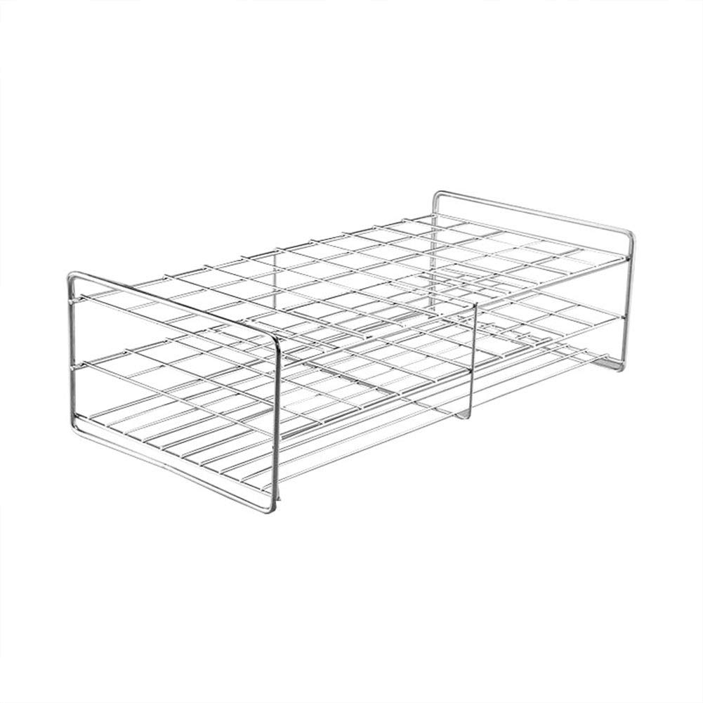 Stainless Steel Test Tube Rack,50 Holes,Outer Diameter Permitted of Tubes 29-31mm,Wire Constructed, 10x5 Format,Adamas-Beta by Adamas-Beta