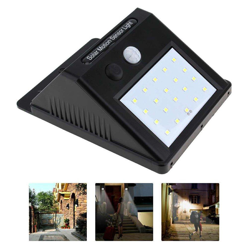 Wireless Solar Lights Motion Sensor Outdoor Light Dark Sensing Wall Lights Waterproof Security Lights with Wide Angle Illumination for Front Door, Back Yard, Driveway, Garage, Fence 2pcs