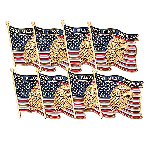 Veteran/'s and US Flag Day Memorial Red White and Blue Decorations for 4th of July 2 Rolls with 200 God Bless America Stickers Total ArtCreativity USA American Flag Patriotic Stickers