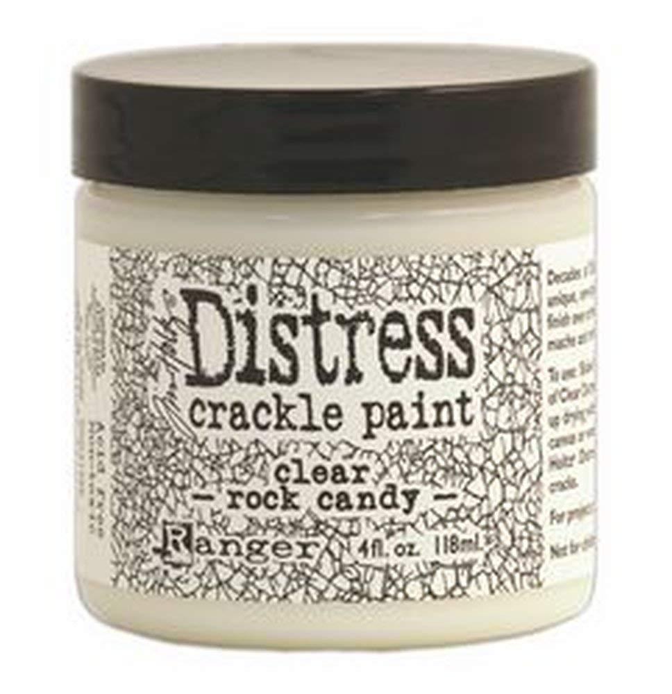 Ranger TDC31888 Tim Holtz Distress Crackle Paint 4 oz Jar, Clear Rock Candy Ranger Ink