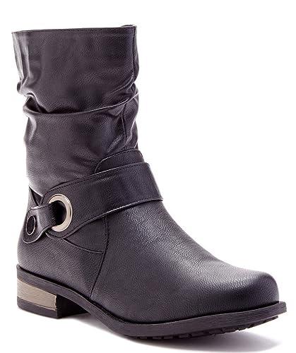 Madelina Womens Fashion Mid Shaft Boots