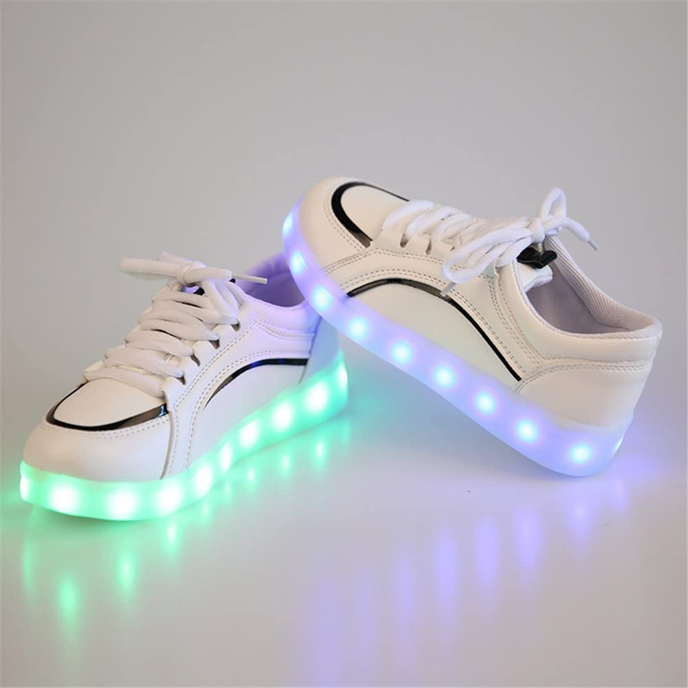 FG21ds21g Fahsion Basket LED Shoes Casual Kids Trainers Luminous Sneakers USB Glowing Shoes