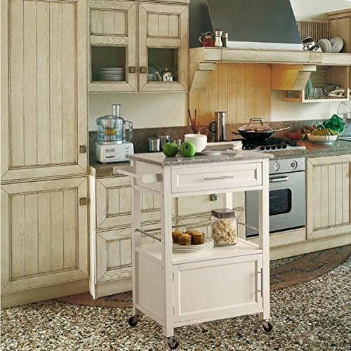 Oh! Home Elaine Classic Mobile Kitchen Cart (Origami Rolling Trolley Table compare prices)
