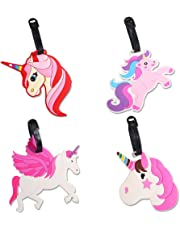 Unicorn Luggage Tags - Perfect for Kids Women Girls Travel Baggage Tags