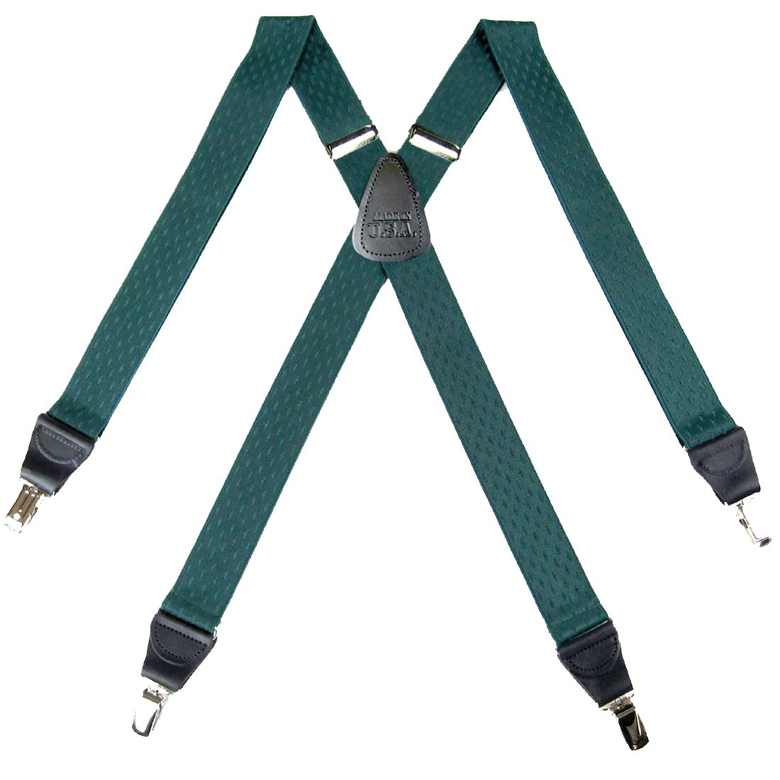 Red Mens Diamond Suspenders for pants trousers Made in the USA