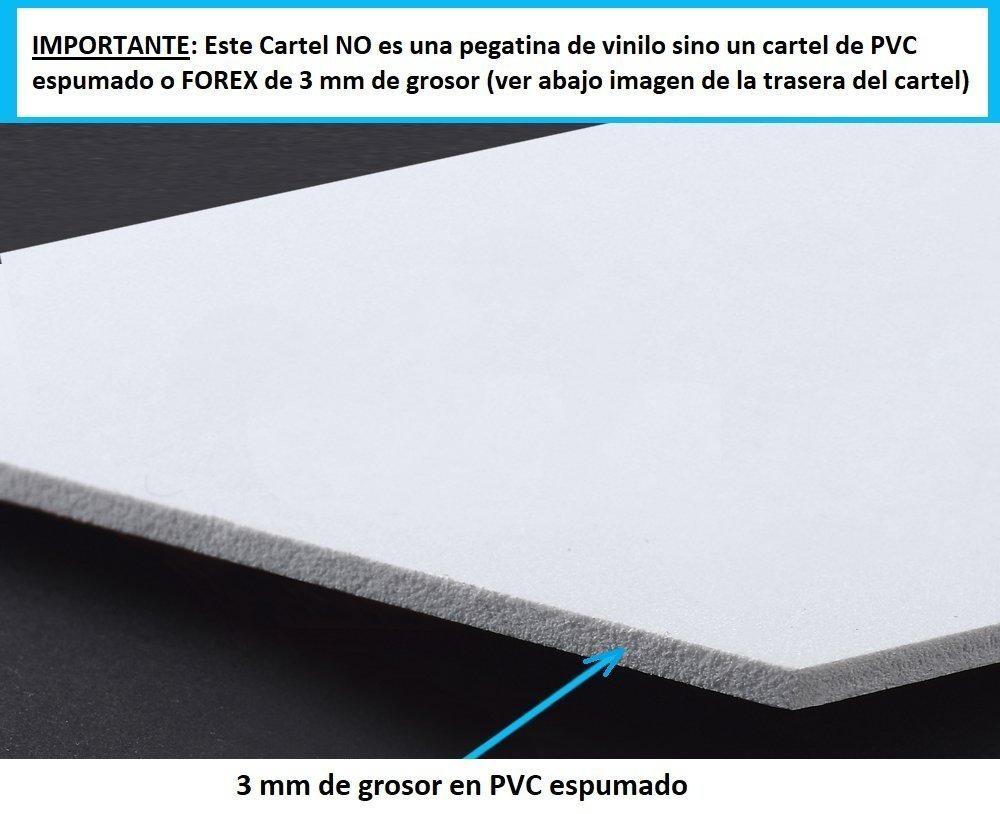★★★★★ Cartel disuasorio Interior/Exterior, Placa disuasoria de PVC expandido, Cartel Alarma conectada, 30x21 cm Rojo ★★★★★