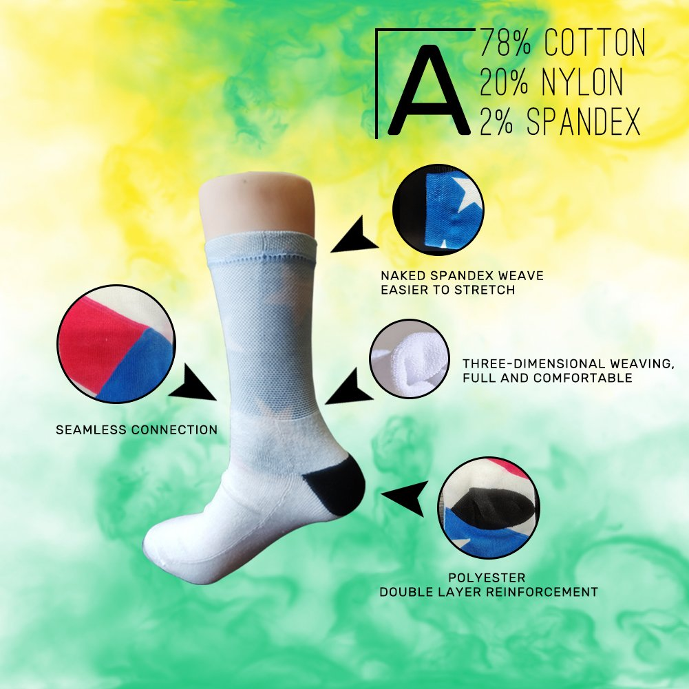 A Various Of FlowersCrazy Socks Casual Cotton Crew Socks Cute Funny Sock Great For Sports And Hiking