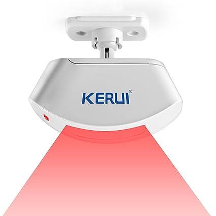 KERUI – Sensor infrarrojo KERUI P817 433 mhz cortina de techo inalámbrico Detector de PIR para
