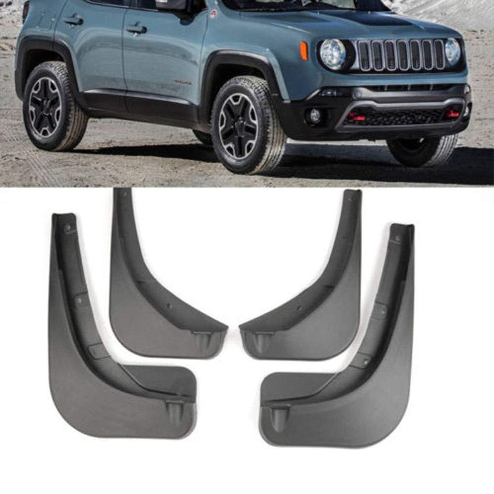 Barro Guardabarros Trasero Flaps Frente del Coche de pl/ástico ABS Splash Protector de reemplazo para Jeep Renegade 2016