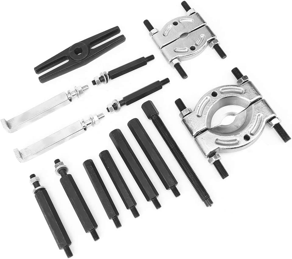 AYNEFY Bearing Puller 15.4 x 9.8 x 2.8 inch Portable 14Pcs Removal Bar Disassembly Tool for Repair Shops and Hobbyists
