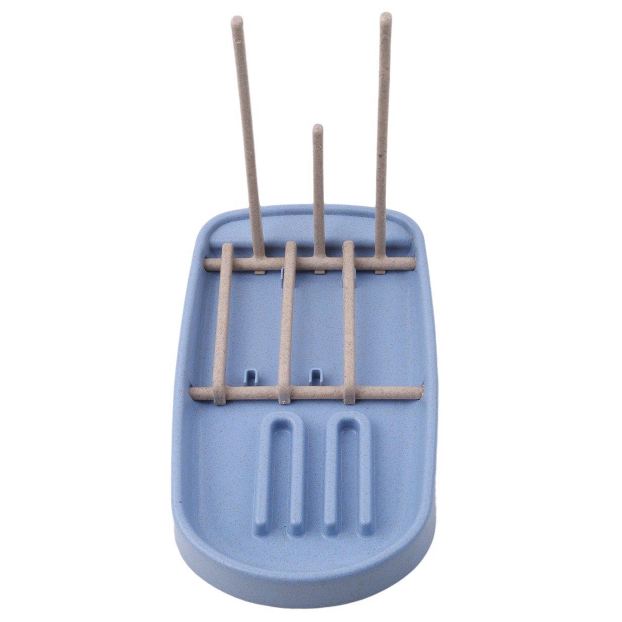 Lalang Mehrfunktional Trockenst/änder Reinigung Trocknen Rack f/ür Baby Flaschen Blau