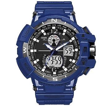 Ver Reloj Digital de Cuarzo para Hombre Reloj de Alarma ...